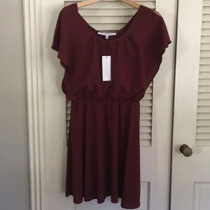 Collective Concepts NWT burgundy 70s vibe dress